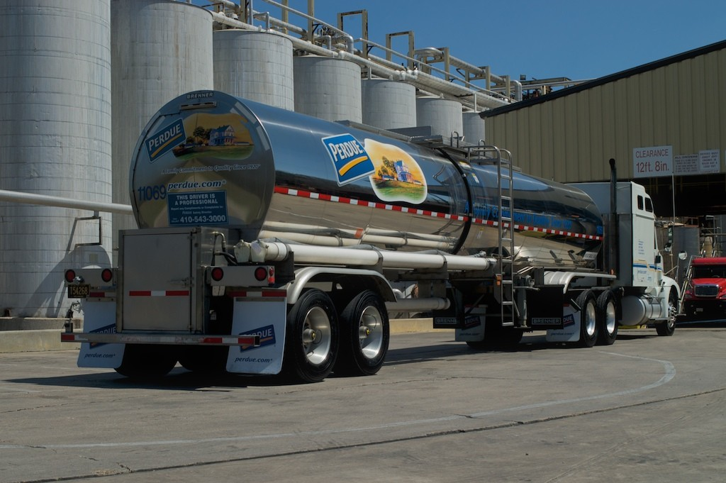 Perdue Agribusiness refined oil truck.