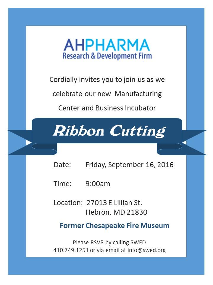 Ahpharma Ribbon Cutting